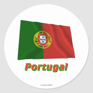 Portugal Waving Flag with Name Stickers