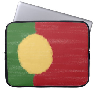 Portugal wax pencil sketched flag laptop sleeve