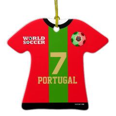 Portugal World Cup Soccer Jersey Ornament ornament