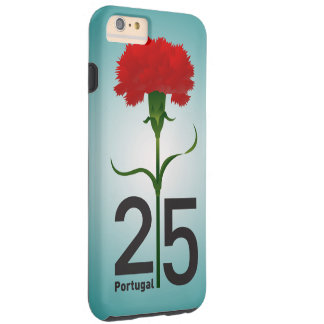 Portugal y clavel rojo funda para iPhone 6 plus tough