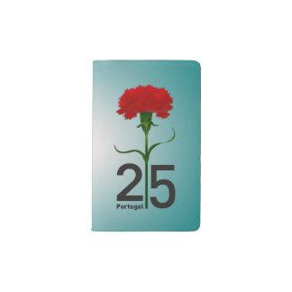 Portugal y clavel rojo funda para libreta y libreta pequeña moleskine