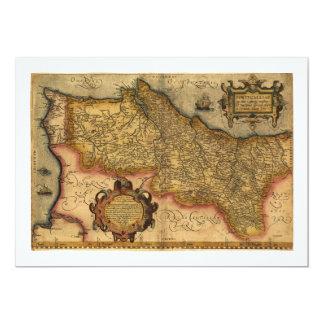 Portugalliae que olim Lusitania by Ortelius (1579) Card