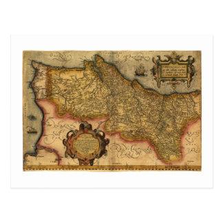 Portugalliae que olim Lusitania by Ortelius (1579) Post Card