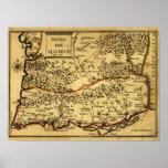 PortugalPanoramic MapPortugal Print