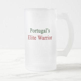 Portugal's Elite Warrior Frosted Glass Beer Mug
