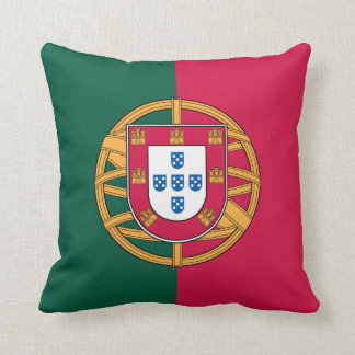 Portugese Flag Throw Pillow