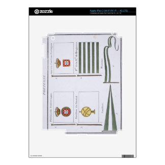 Portugese Flags, from a French book of Flags, c.18 Skins For iPad 3
