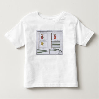 Portugese Flags, from a French book of Flags, c.18 Toddler T-shirt