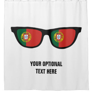 Portugese Shades custom shower curtain