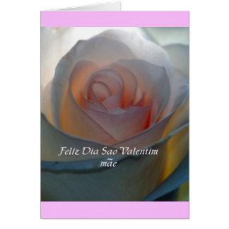 Portugese Valentine Mom Card