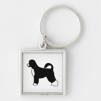 portugese water dog color silhouette.png key chains