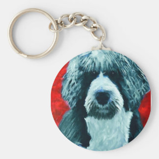 Portugese Water Dog Keychain