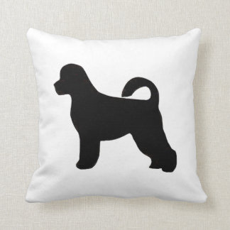 portugese water dog silhouette.png throw pillow