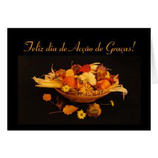 Portugués: Acción de gracias Tarjeta De Felicitación