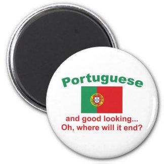 Portugués apuesto imán redondo 5 cm