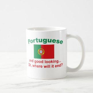 Portugués apuesto taza