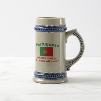 Portugués apuesto tazas