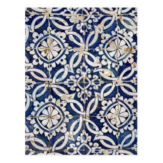 Portugués Azulejo del vintage Tarjetas Postales