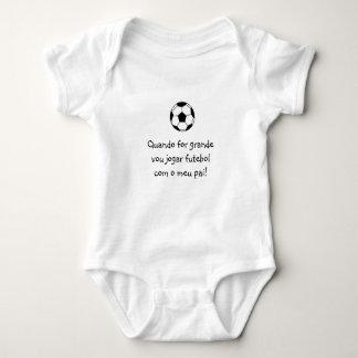 Portugués: bebé del fútbol del futebol poleras
