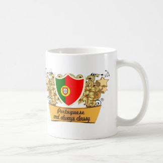 Portugués con clase taza