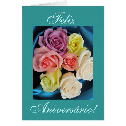 Portugués: Cumpleaños de los parabenes de Aniversa Felicitaciones