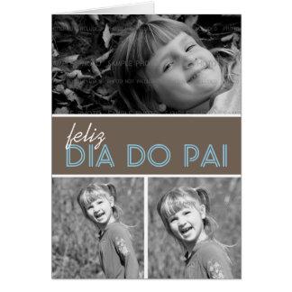 Portugués de la plantilla el   de la tarjeta de fe