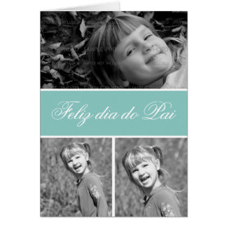 Portugués de las tarjetas de imagen de los saludos