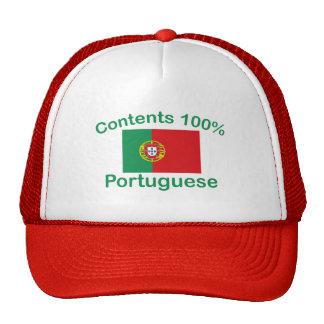 Portugués del contenido el 100% gorras de camionero