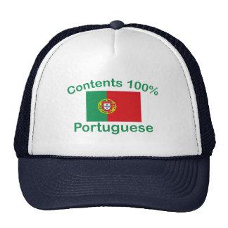Portugués del contenido el 100% gorros