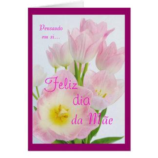Portugués: Diámetro DA Mãe Tarjeta De Felicitación