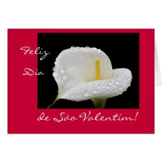 Portugués: El día de San Valentín/Dia de São Valen Tarjeta