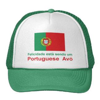 Portugués feliz Avo (abuelo) Gorras