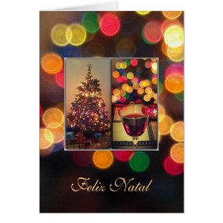 Portugués: Feliz natal - luces de navidad Tarjeta De Felicitación