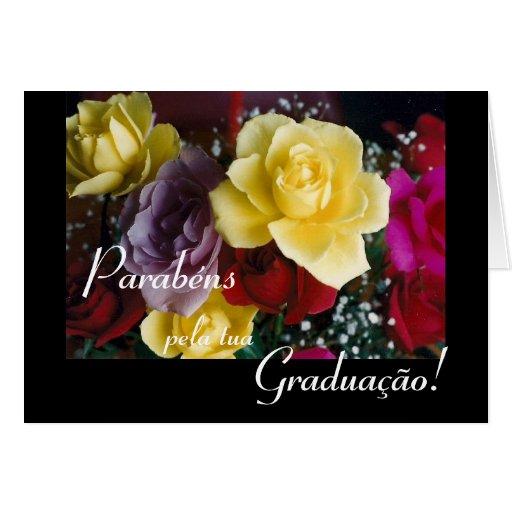 Portugués: Flores de la graduación de Graduação/ Tarjetón