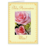 Portugués: Flores del cumpleaños Felicitacion