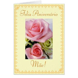 Portugués: Flores del cumpleaños Tarjeta De Felicitación