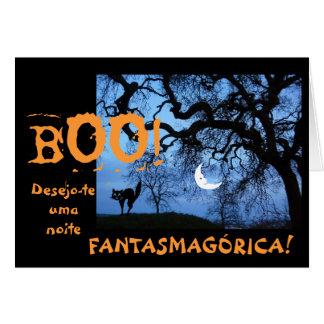 Portugués: Halloween/diámetro das Bruxas Felicitacion