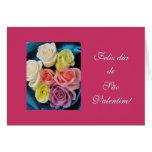 Portugués: Herzios de la seda y de los rosas de la Tarjeta De Felicitación