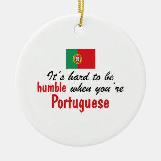 Portugués humilde adorno redondo de cerámica
