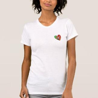 Portugués: Luso Americano - bandera del corazón Camisetas