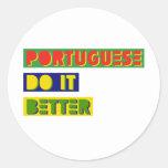 Portugués mejora etiquetas redondas