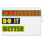 Portugués mejora felicitacion