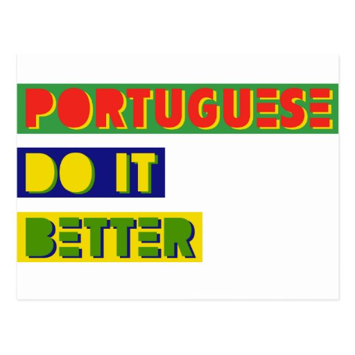 Portugués mejora tarjeta postal