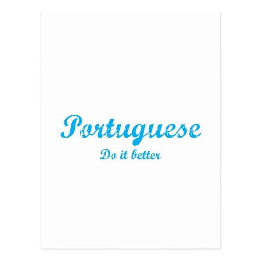 Portugués mejora tarjetas postales
