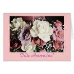 Portugués: Rosas Rosas de aniversário del cumpleañ Tarjetas
