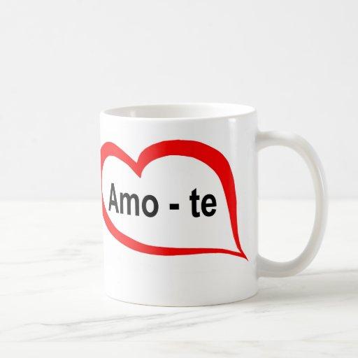 Portugués te amo tazas de café