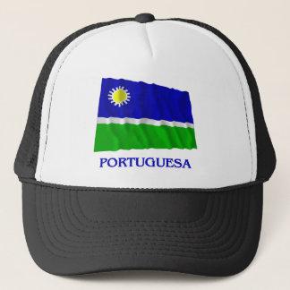 Portuguesa Waving Flag with Name Trucker Hat