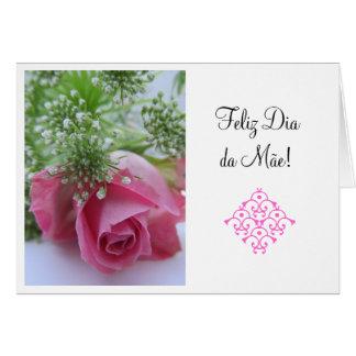 Portuguese:1 Dia da Mae/ Mother's Day Card