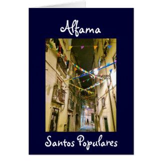 Portuguese: Alfama santos populares Card