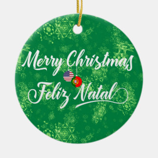 Portuguese American Decoration, Feliz Natal Ceramic Ornament
